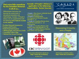 Information available online : http://www.cbc.ca/history/