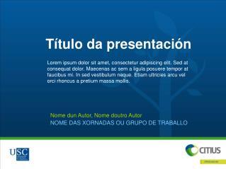 Título da  presentación