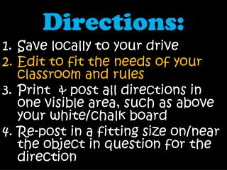 Directions: