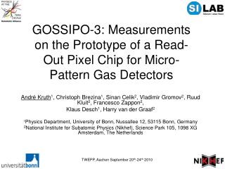 GOSSIPO-3: Measurements on the Prototype of a Read-Out Pixel Chip for Micro-Pattern Gas Detectors
