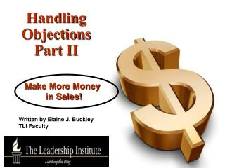 Handling Objections Part II