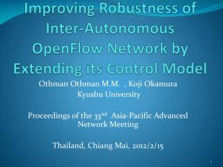 Improving Robustness of Inter-Autonomous OpenFlow Network by Extending its Control Model