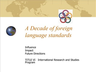A Decade of foreign language standards