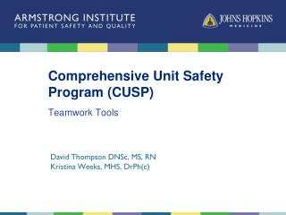 Comprehensive Unit Safety Program (CUSP)