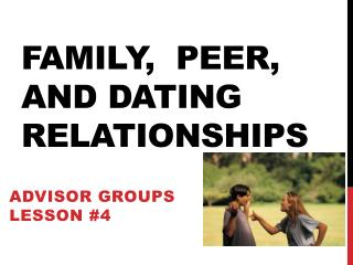Family,  Peer, and Dating Relationships