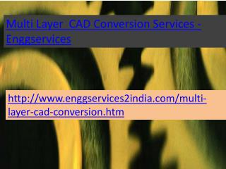 Enggservices -  Multi Layer CAD Conversion services