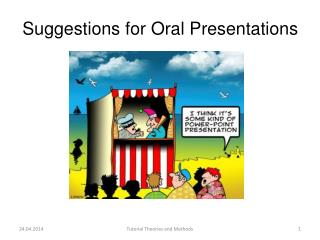 Suggestions for  Oral Presentations