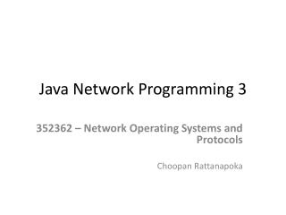 Java Network Programming 3