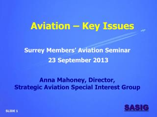 Aviation – Key Issues