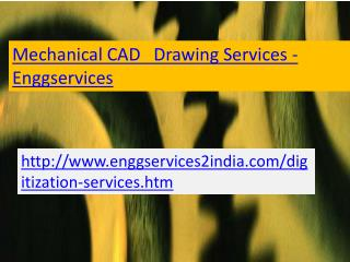 Enggservices - Mechanical CAD Drawings Services