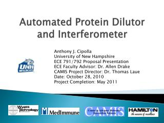 Automated Protein Dilutor and Interferometer