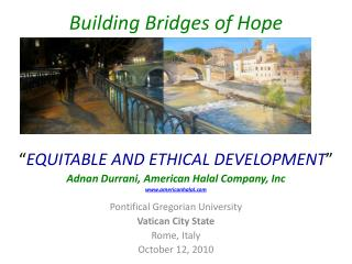 Building Bridges of Hope
