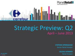 Strategic Preview: Q2