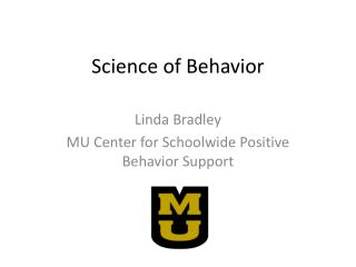Science of Behavior