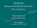 PGM0120 Research Skills  Personal Development