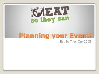 Planning your Event!