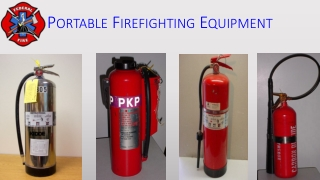 Portable Fire Extinguishers Training