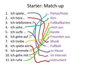 Starter: Match-up