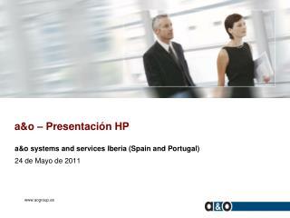 a&o – Presentación HP