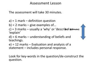 Assessment Lesson