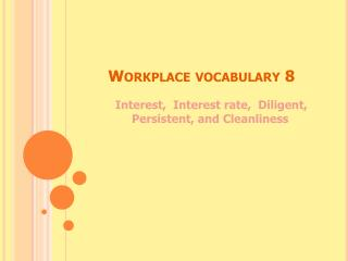 Workplace vocabulary 8