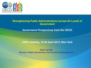 Strengthening Public Administrations across All Levels of Government