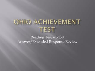 Ohio Achievement test