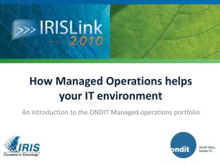 How Managed Operations helps your IT environment