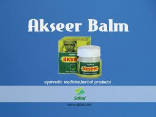 ayurvedic medicine herbal products akseer balm by sahul