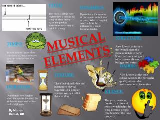Musical elements :