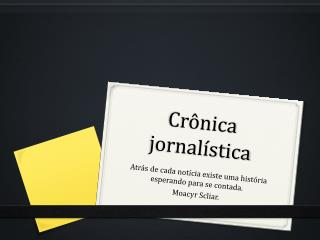 Crônica jornalística