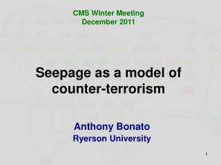 Seepage as a model of counter-terrorism