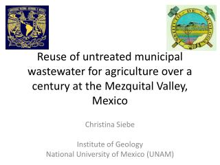 Christina Siebe Institute  of  Geology National University  of  Mexico  (UNAM)