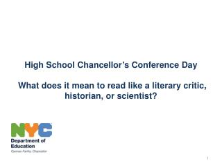 High School Chancellor's Conference Day