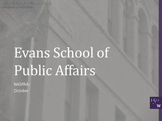Evans School of Public Affairs