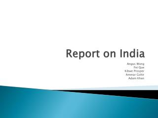 Report on India