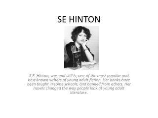 SE HINTON