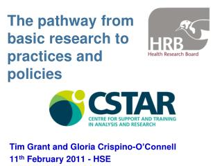 The pathway from basic research to practices and policies