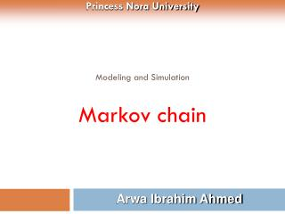 Modeling and Simulation Markov chain