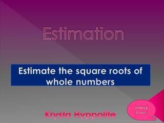 Estimation