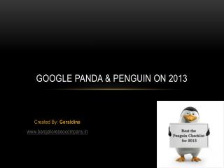 Google Panda & Penguin on 2013