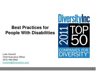 Best Practices for  People With Disabilities