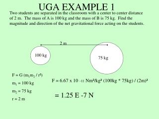 UGA EXAMPLE 1