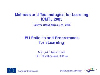 European Commission DG Education and Culture