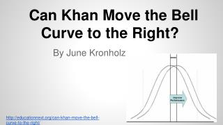 Can Khan Move the Bell Curve to the Right?