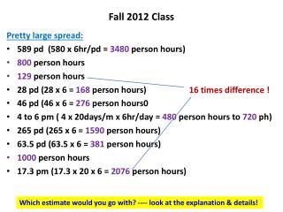 Fall 2012 Class