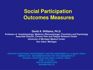 Social Participation  Outcomes Measures