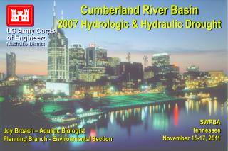 Cumberland River Basin 2007 Hydrologic & Hydraulic Drought