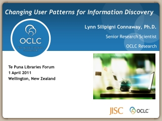 Libraries and the Enhancement of E-learning  Report from an OCLC sponsored Task Force