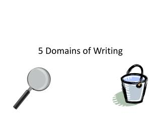 5 Domains of Writing